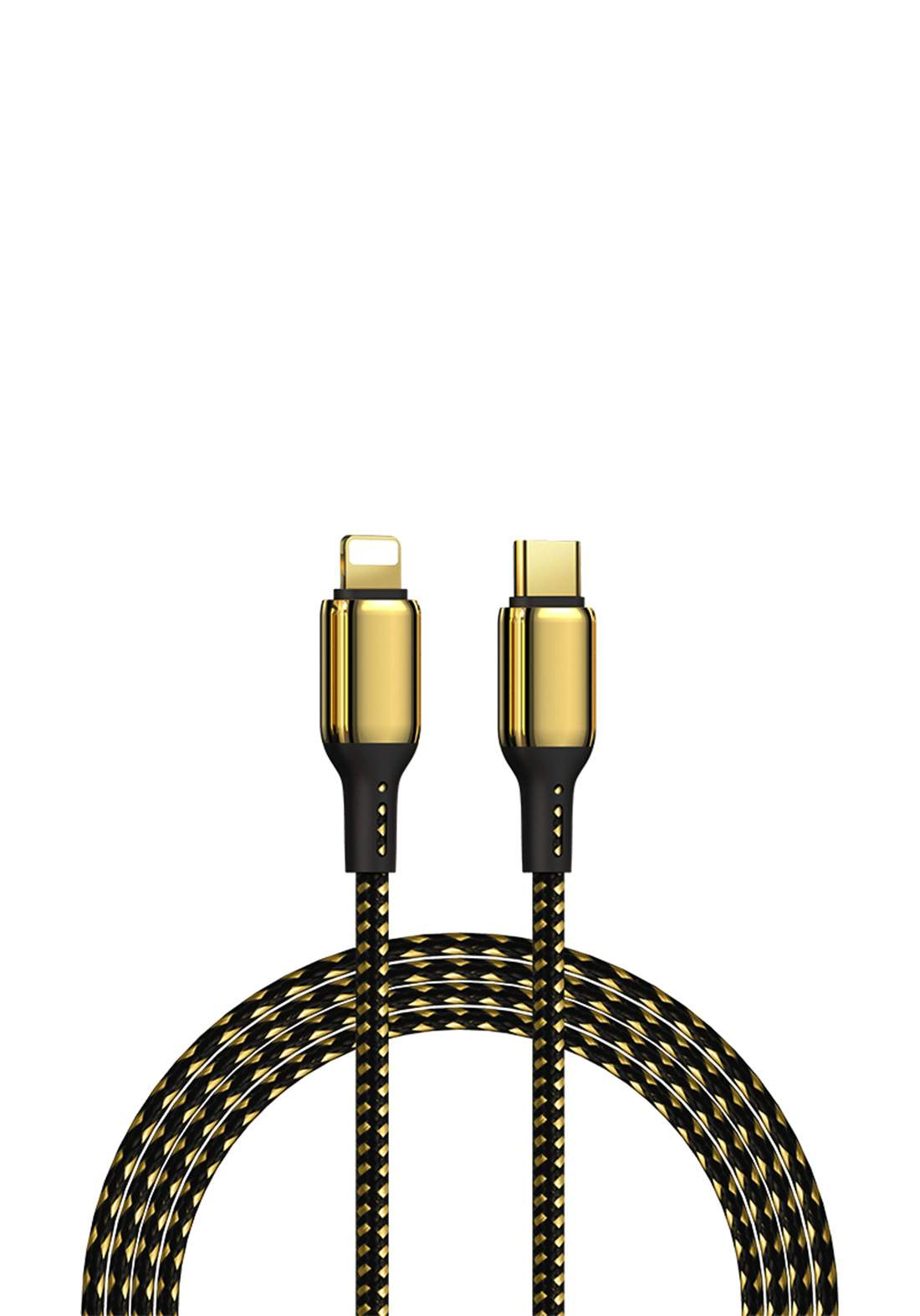 WIWU GD-103 USB-C to 1.2M Lightning 18k Gold Plated 20w Fast Charging Cable for iPhone - Gold  كابل
