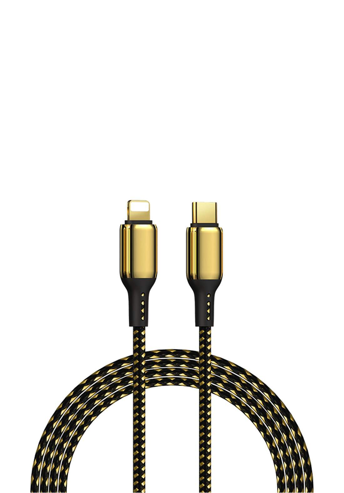 WIWU USB-A TO Lightning 1.2 m  to Lightning Gold Plated 20w Fast Charging Cable for iPhone - Gold  كابل