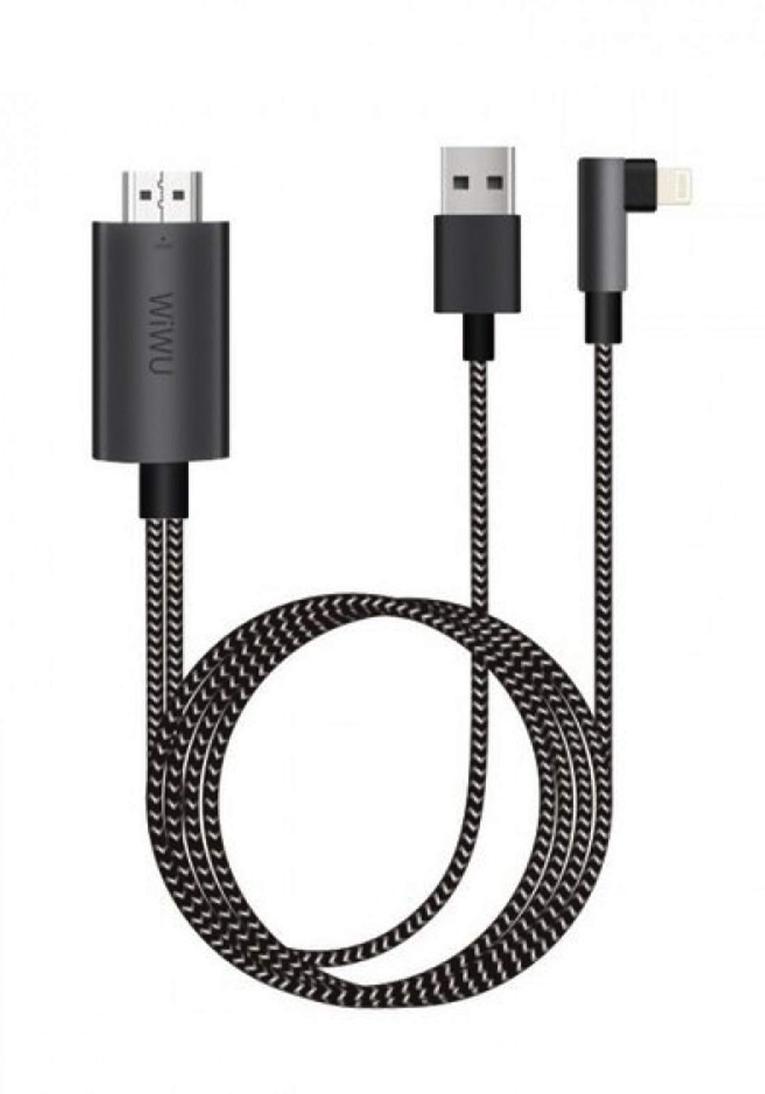 WIWU X7 Lightning to HDMI Cable Charging - Silver  كابل