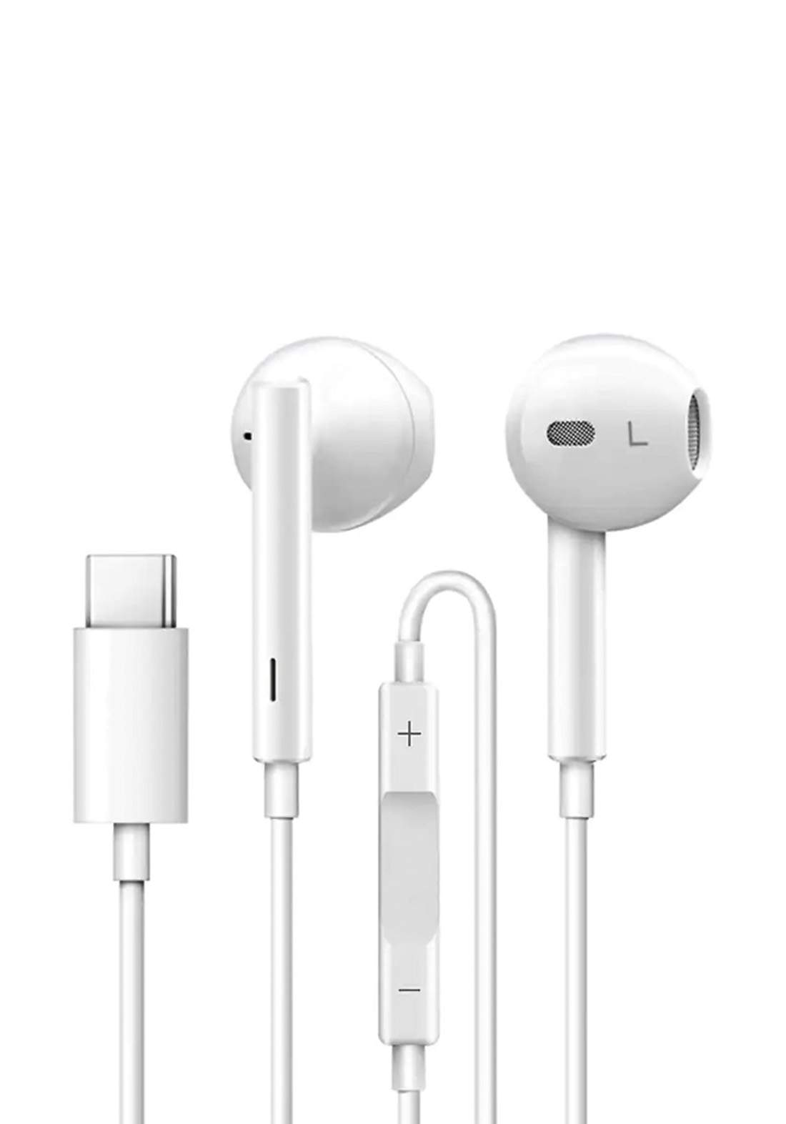 Type-C In-ear Earphones Wired Control With Microphone for Xiaomi Mi8 / Mix 3 - White