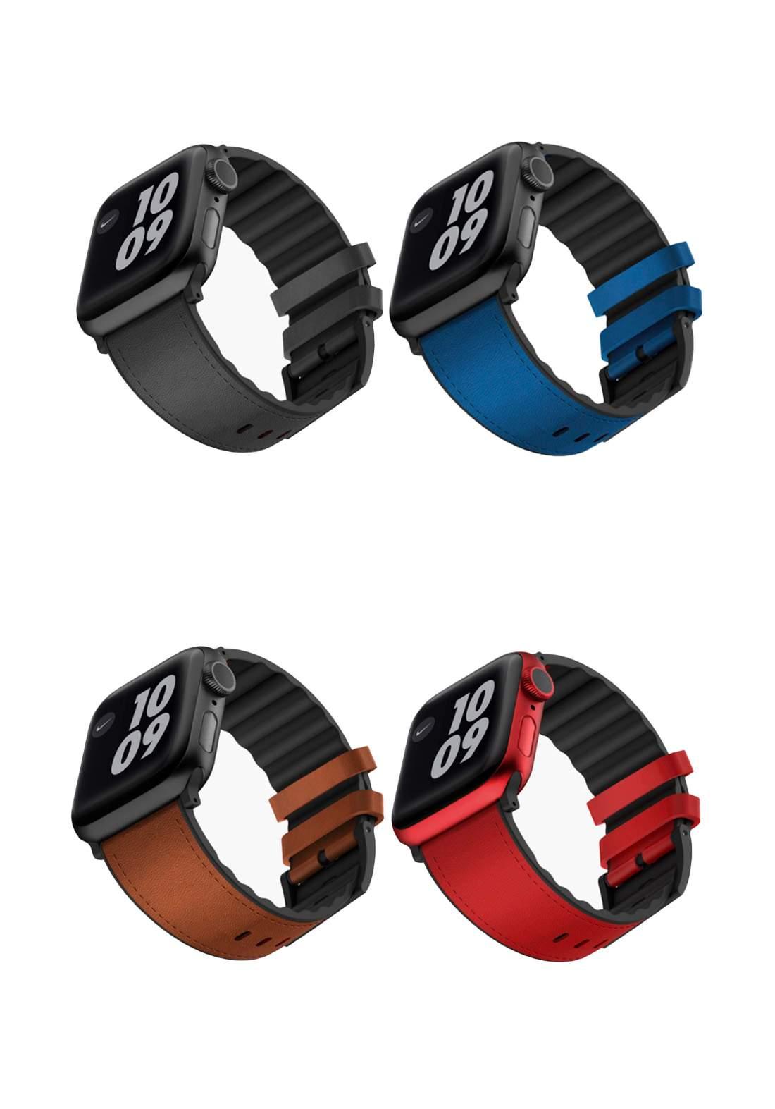 Viva Madrid Ventrix Leather Strap for Apple Watch 42/44mm سوار ساعة