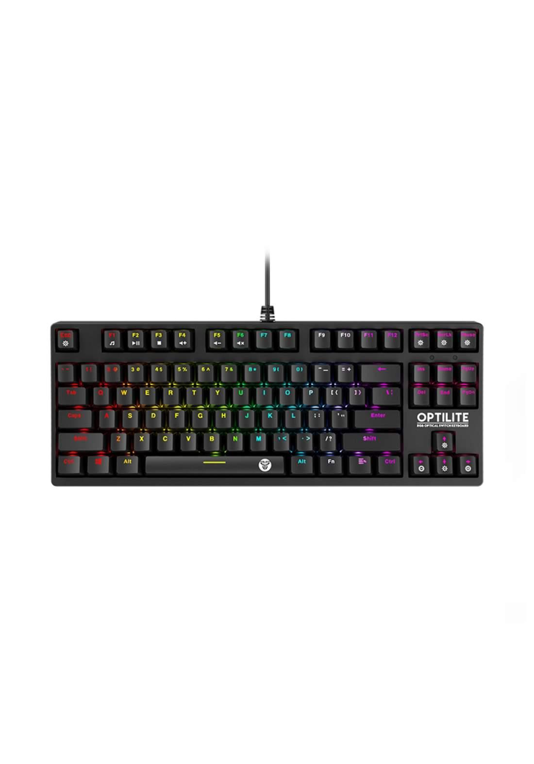 Fantech MK872 RGB Optilite Tournament Edition RGB Optical Switch Keyboard - Black كيبورد