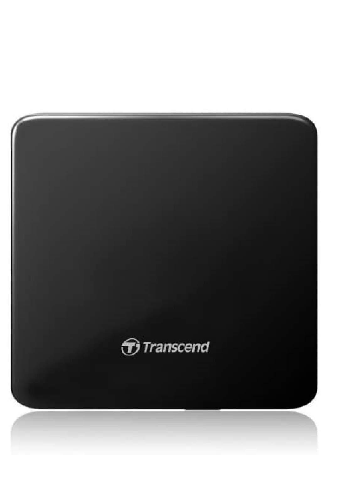 Transcend  TS8XDVDS-K 8X  Slim Portable DVD Writer -Black