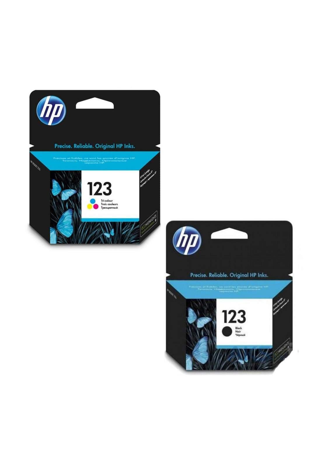 HP 123  Original Ink Cartridge Combo Pack    مجموعة خراطيش حبر