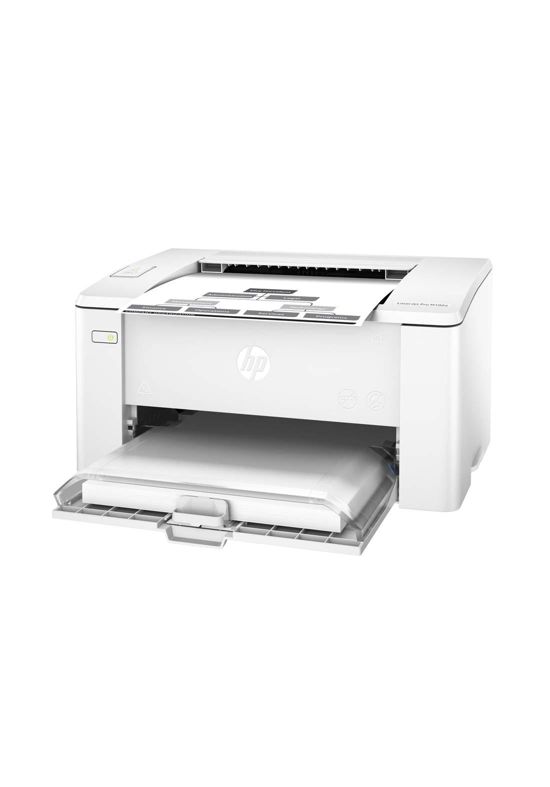 HP LaserJet Pro M102a Printer - White طابعة