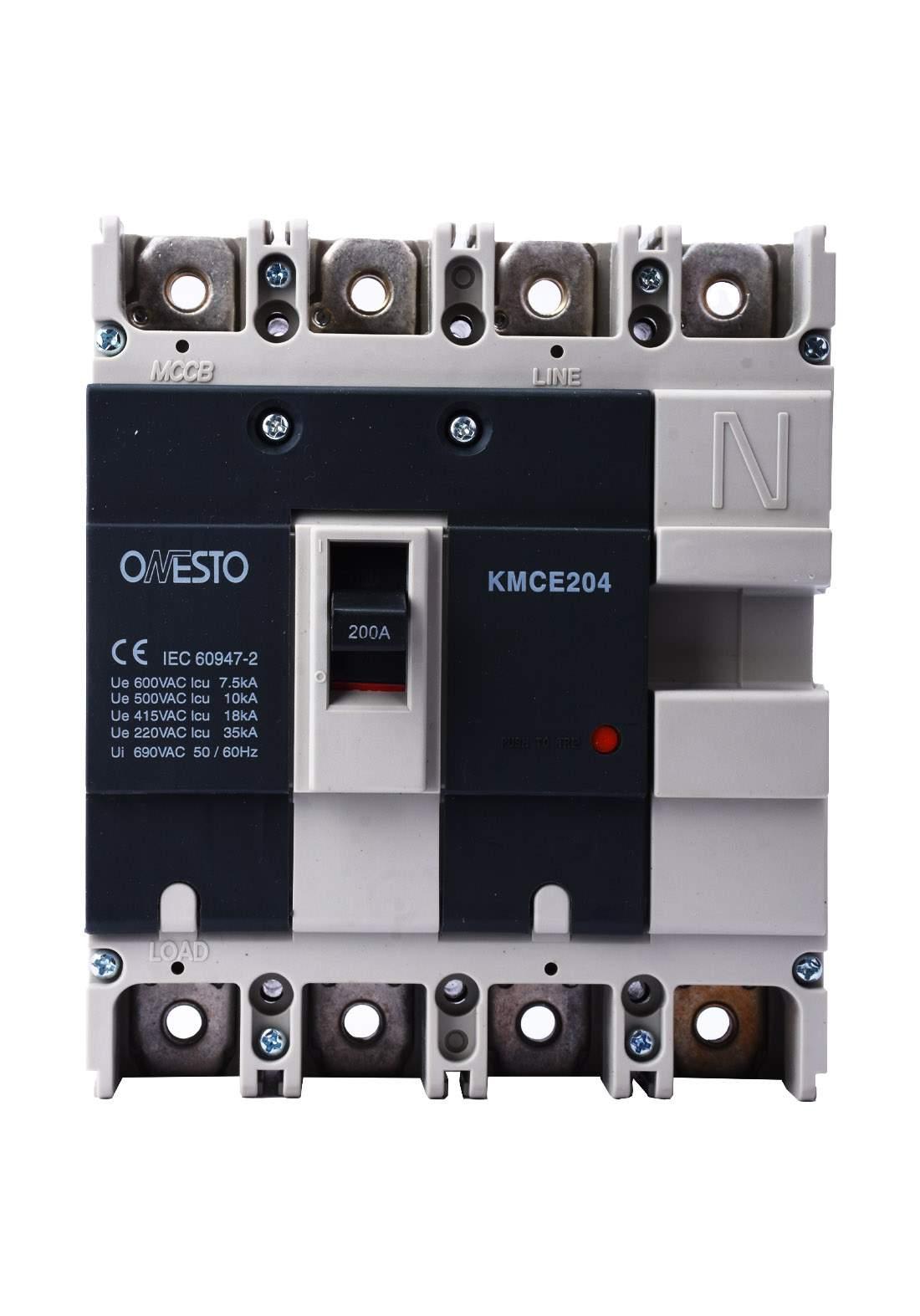 Onesto KMCE204 Circuit Breaker 200 A قاطع تيار الكهرباء هوائي (جوزة)
