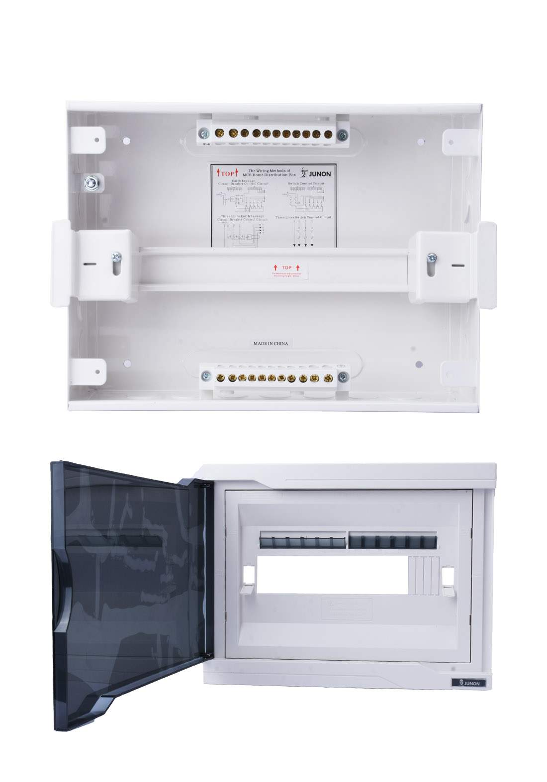 Junon DX18-A12TWB Power Distribution Box 12 Ways بوكس توزيع الكهرباء