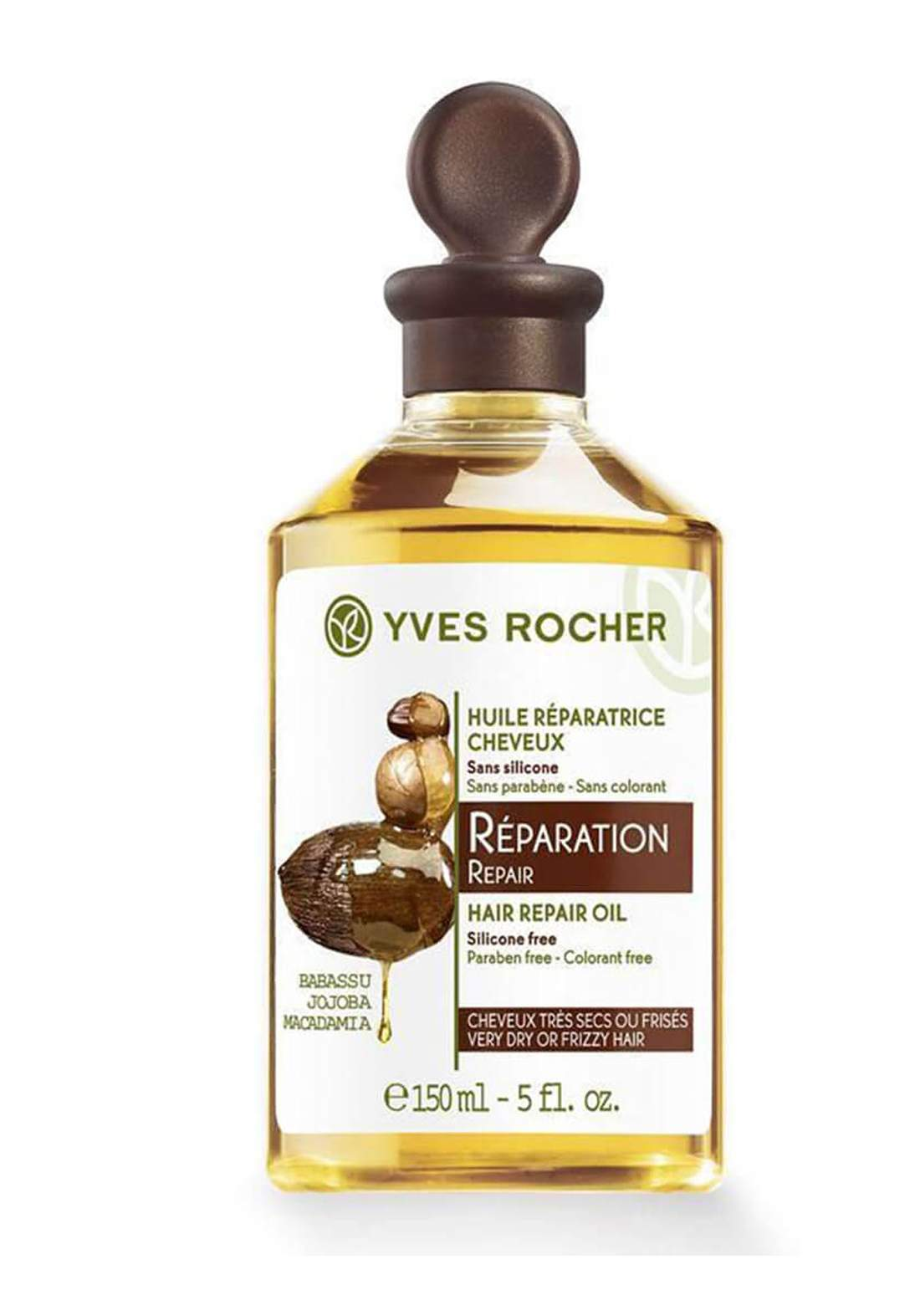 Yves Rocher 16326 Oil for Restoration with Babassu Jojoba and Makadamia 150ml زيت العناية بالشعر