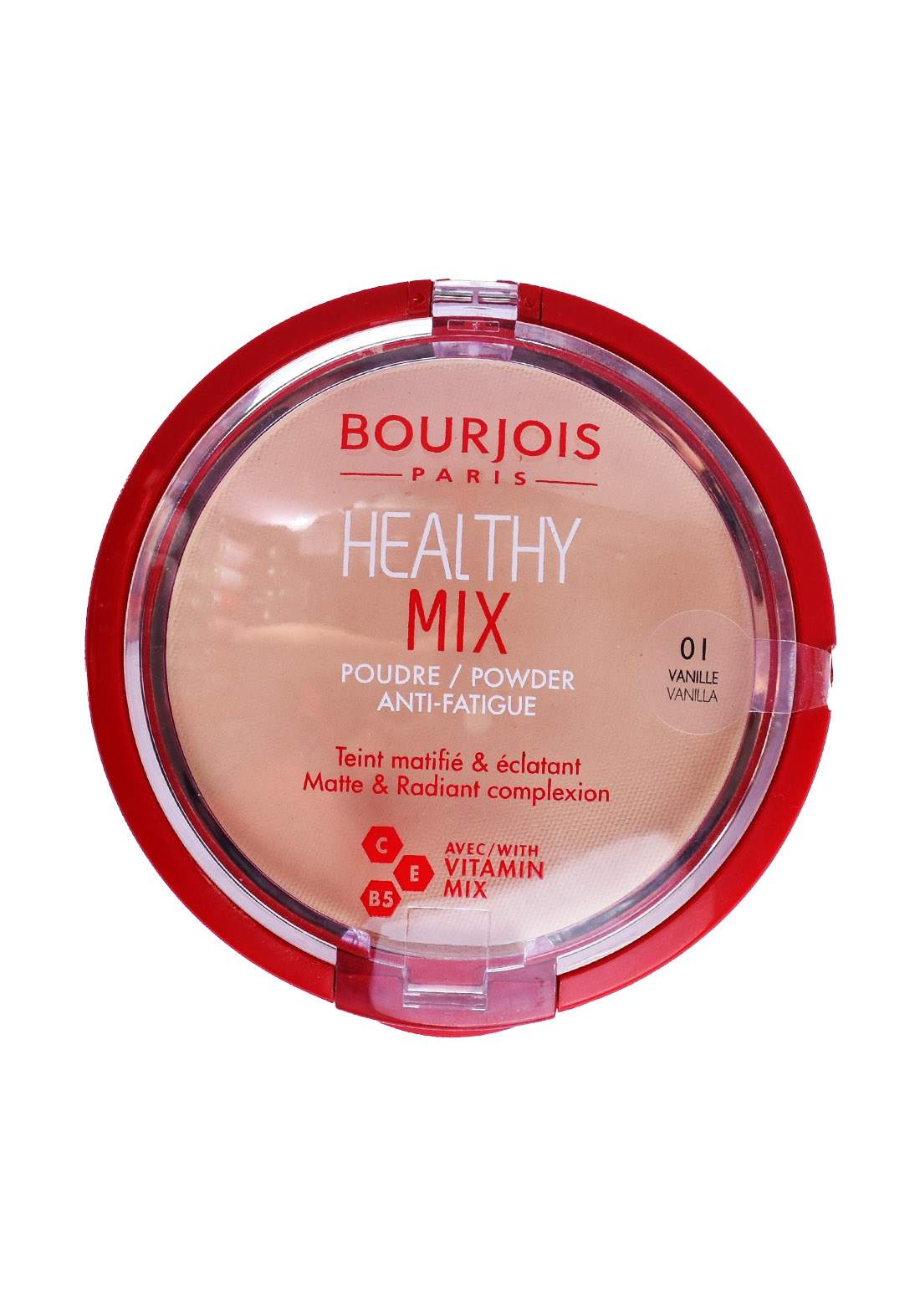 Bourjois Paris Healthy Mix Anti-Fatigue Powder - 01 Vanilla باودر