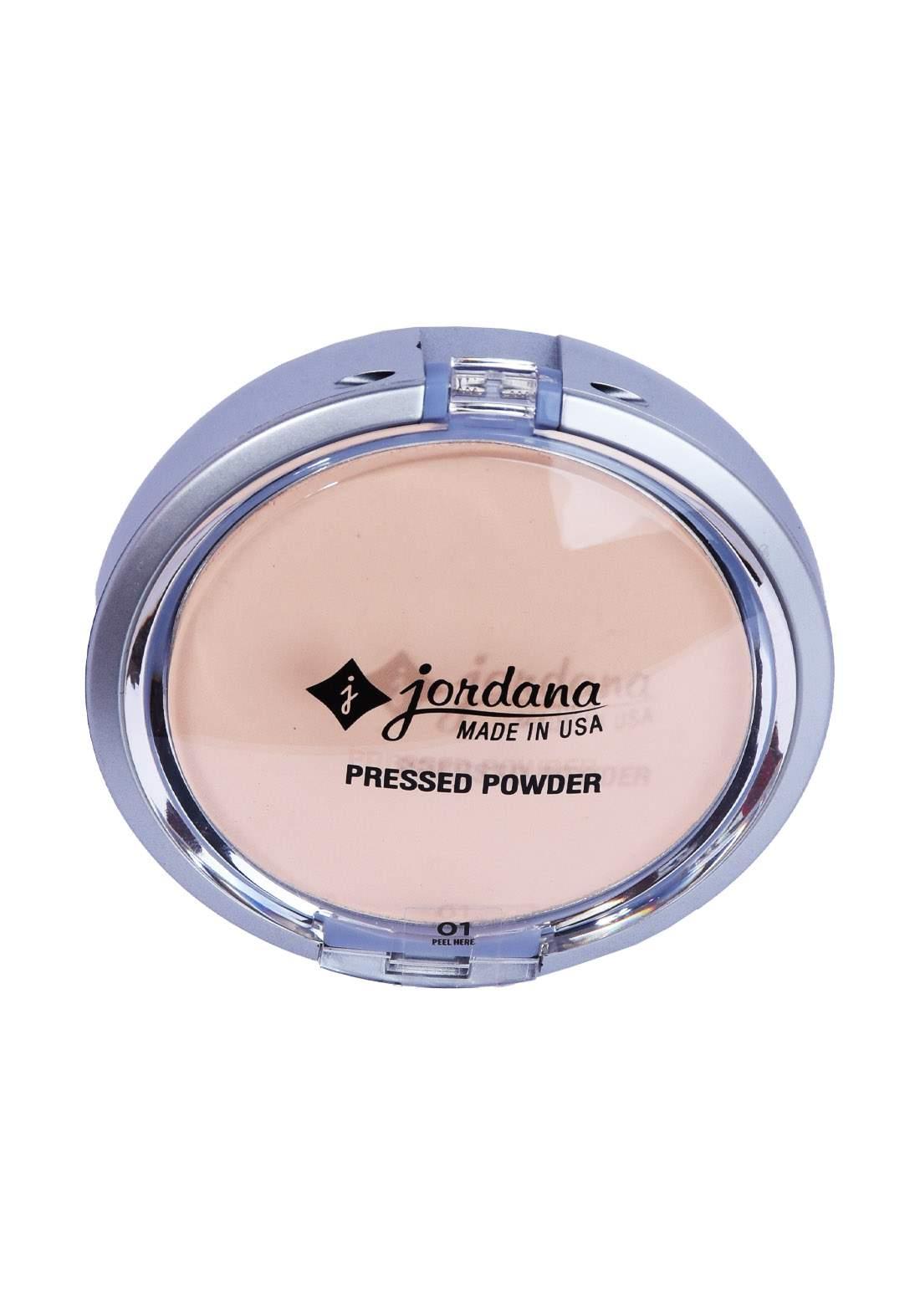 Jordana Perfect Pressed Powder - 01 Natural Beige, 0.35 oz باودر مضغوط