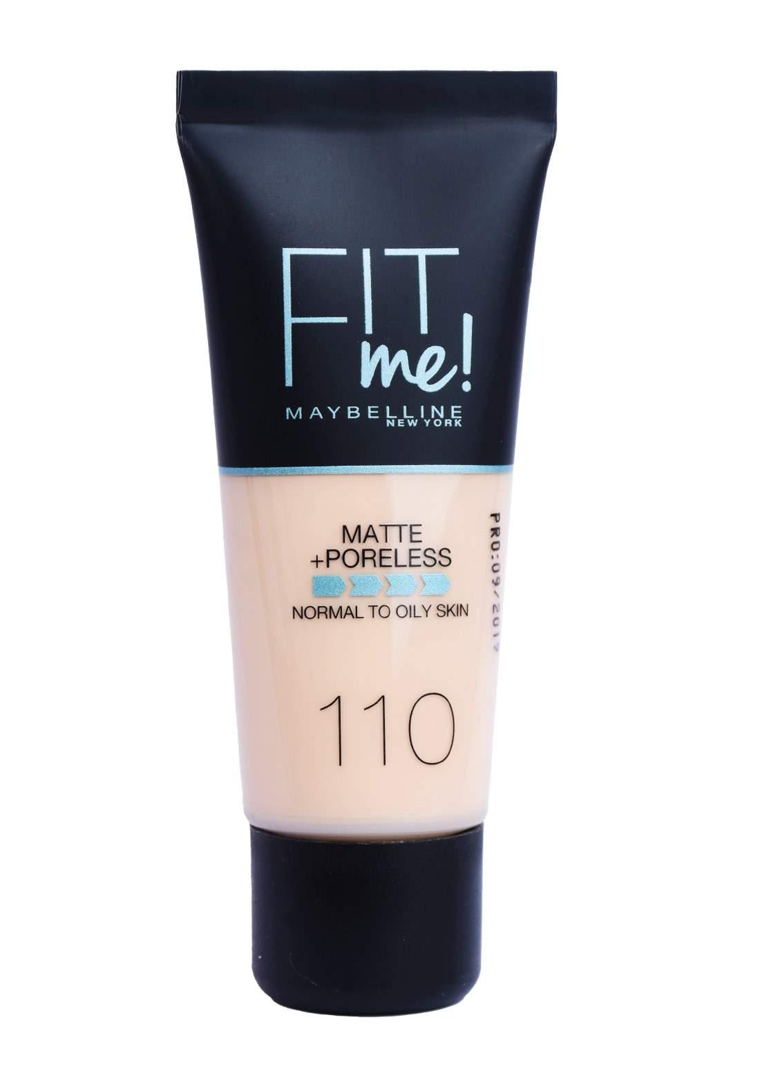 Maybelline Fit Me Foundation No. 110 - Porcelain كريم أساس
