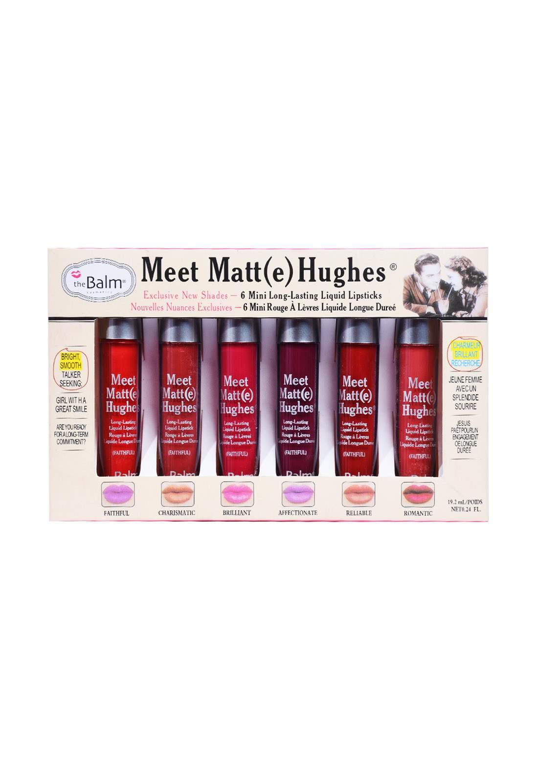 The Balm Mini Long Lasting Liquid Lipsticks 6 pcs 1 سيت احمر شفاه