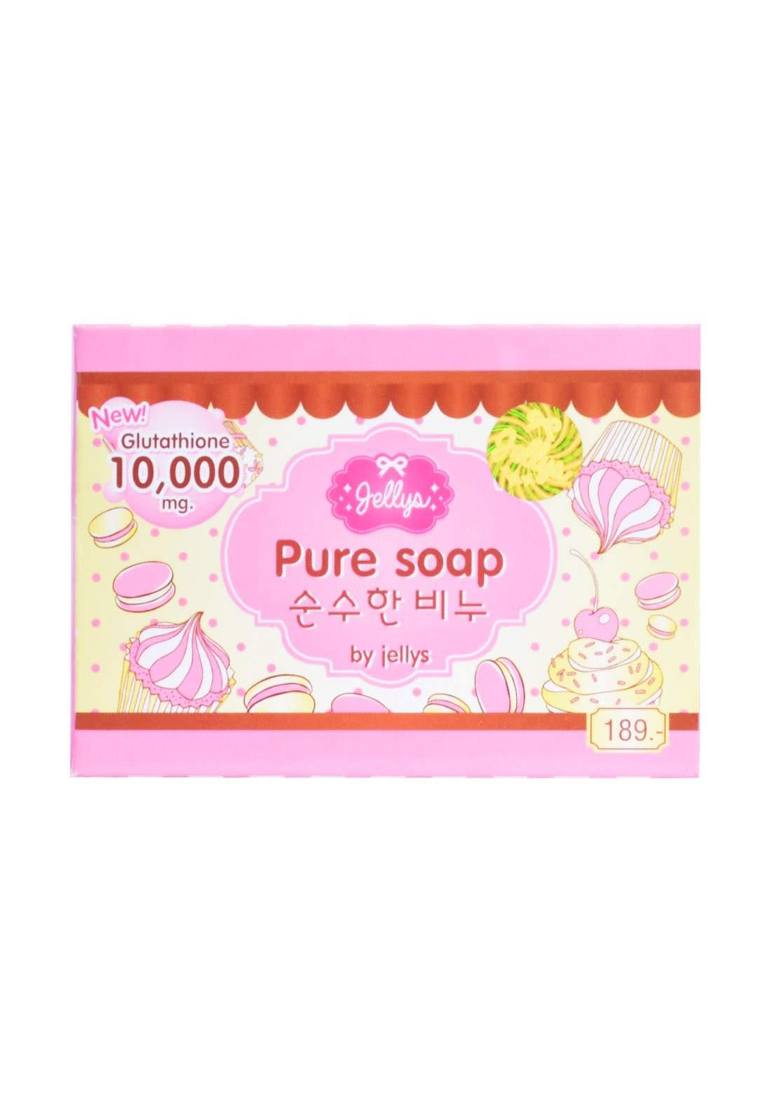 Jellys Glutathione Pure Soap Safe Whitening Healthy  100 g صابونة للبشرة