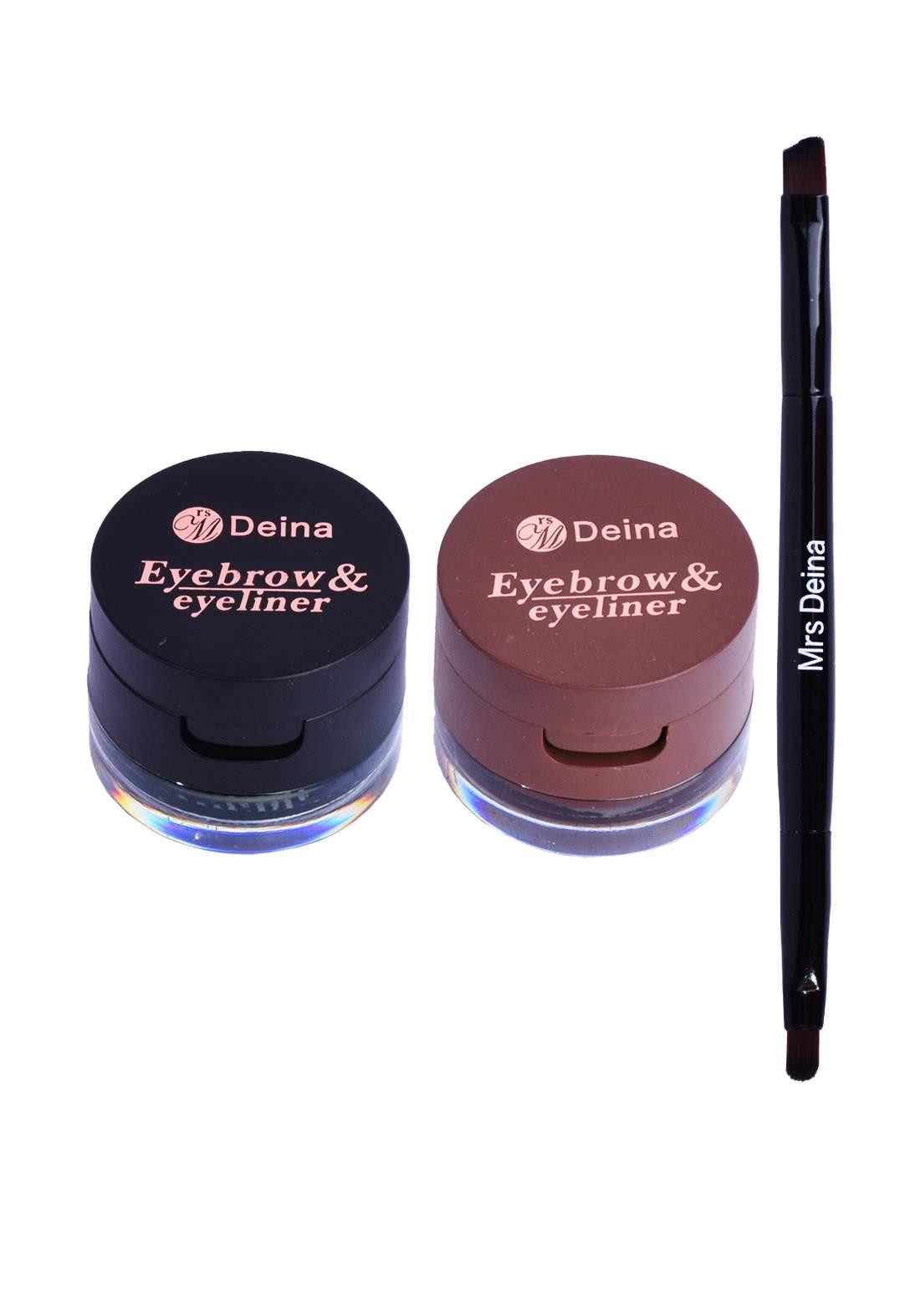 Mrs Deina Eye Brow and Eye Liner Cream مصحح حواجب ومحدد عيون