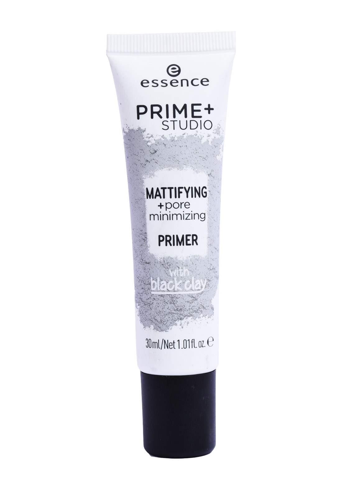 Essence Prime Studio Mattifying Pore Minimizer 30 Ml-Black Clay برايمر