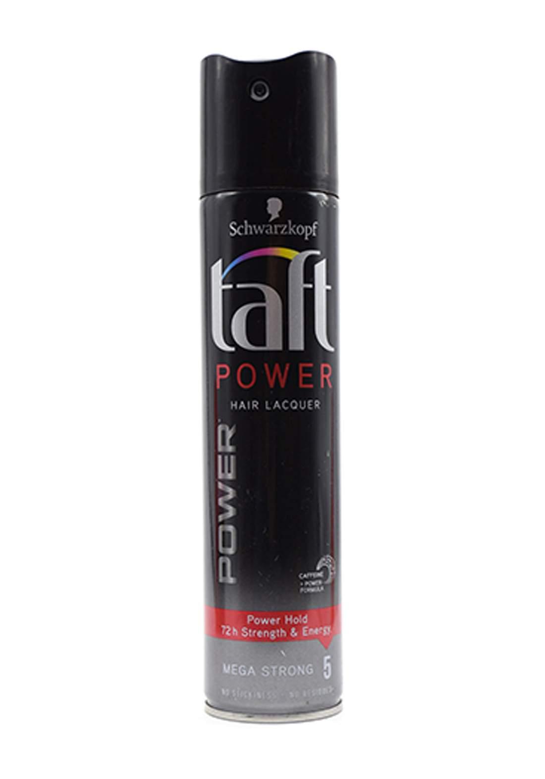 Schwarzkopf 3 Wetter Taft Hair Lacquer Power mega strong hold 5- 250 ml مثبت شعر