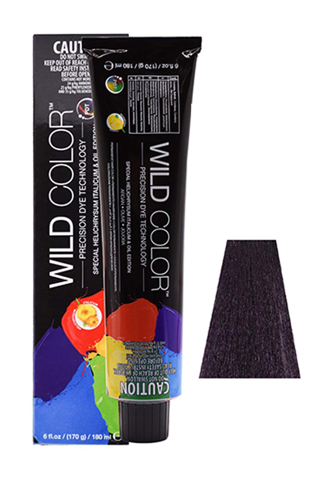 Wild Color Hair Color Cream 2.2  2V -Darkest Violete  Brown صبغة شعر