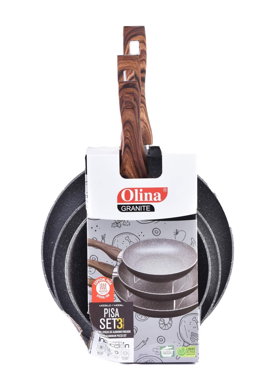 Olina Frying Pan Set 3pcs سيت مقلاة