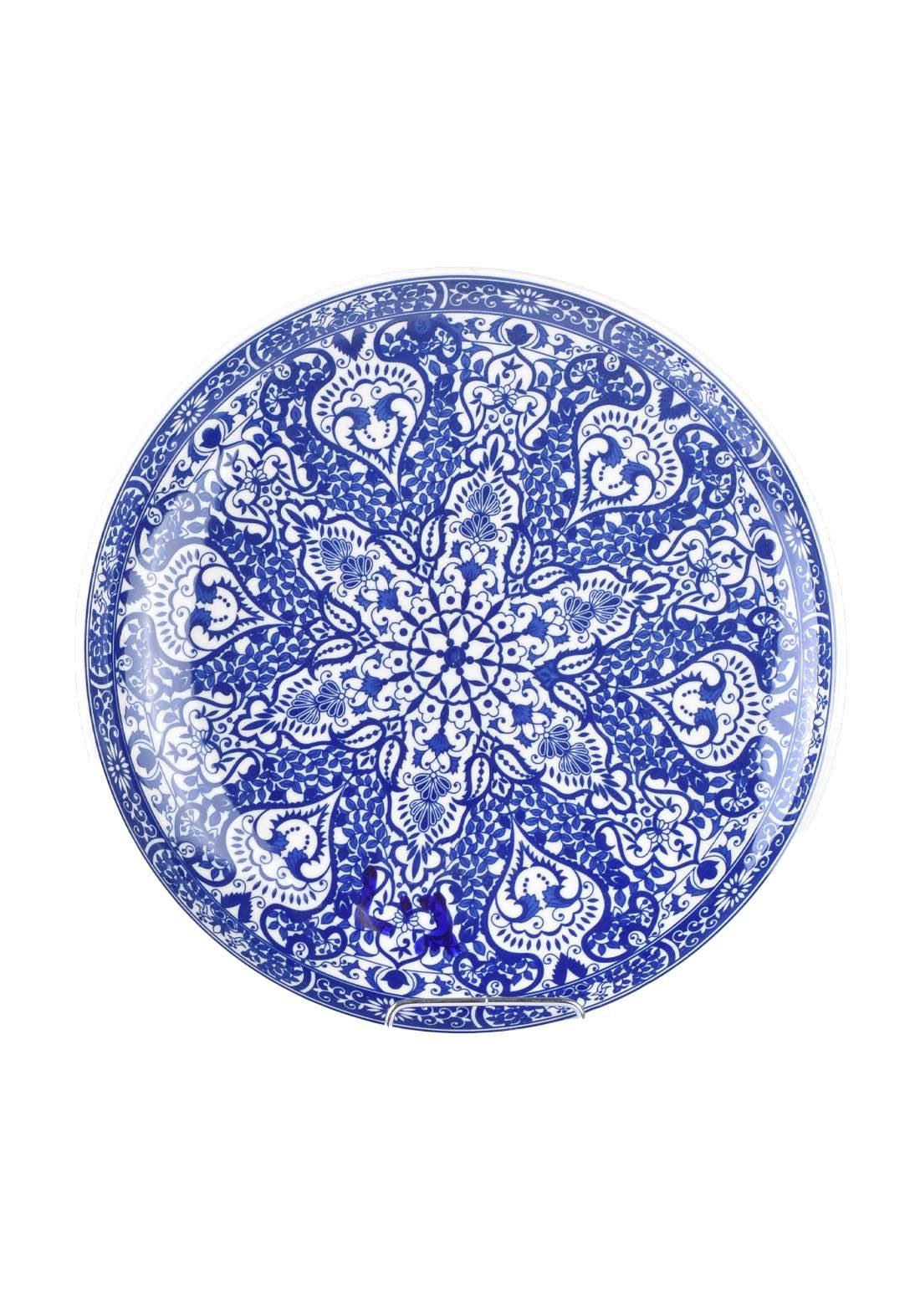 طبق تقديم ازرق اللون