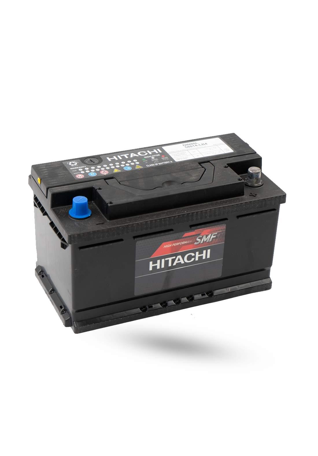 HITACHI 58014-LB4 Car Battery 12V 80A  بطارية سيارة 80 امبير