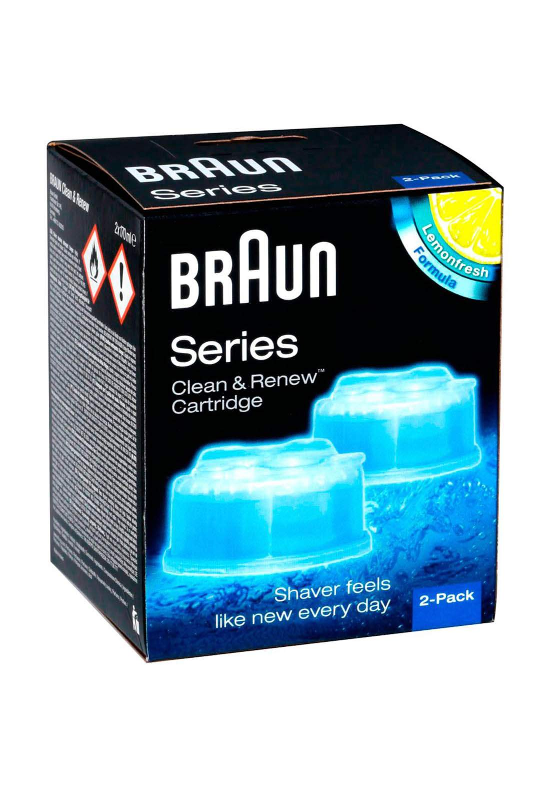 Braun  CCR2 Cleaning Cartridges عبوة  تنظيف خرطوشة براون