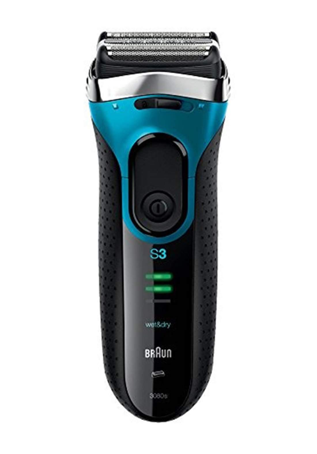 Braun  3080s Series 3 ProSkin Wet & Dry Men's Rechargeable Shaver  ماكنة حلاقة رجالية