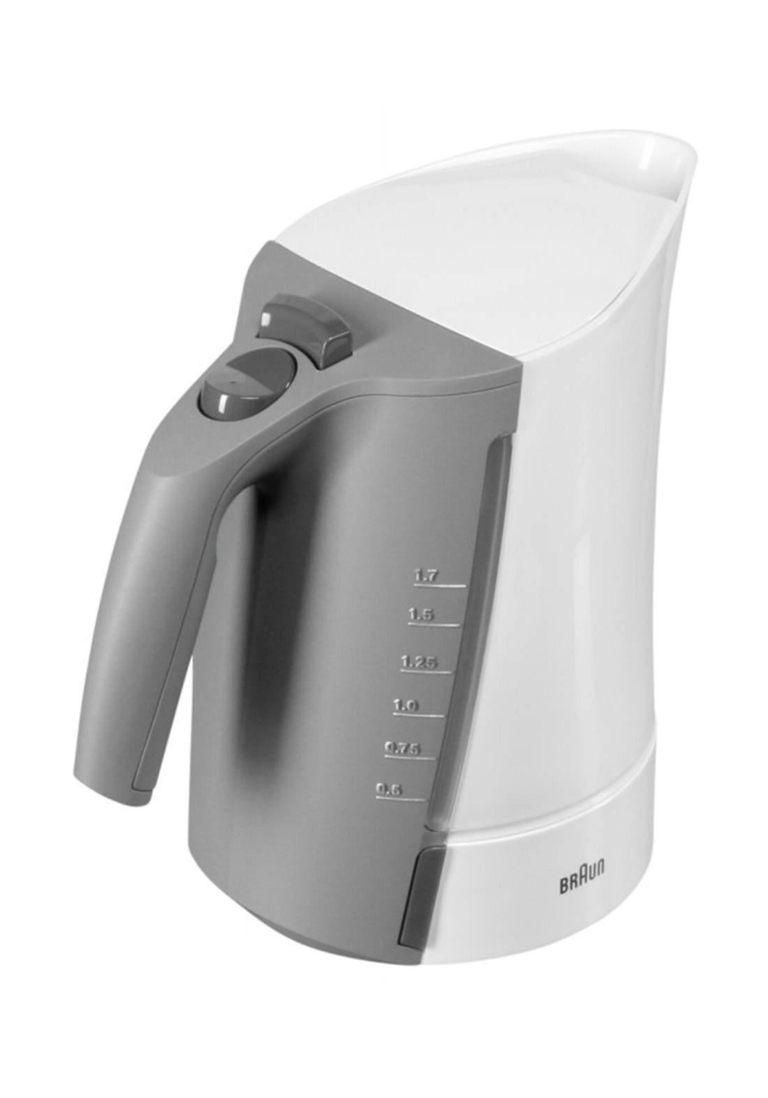 Braun WK 300 electric kettle 17 L - White غلاية كهربائية
