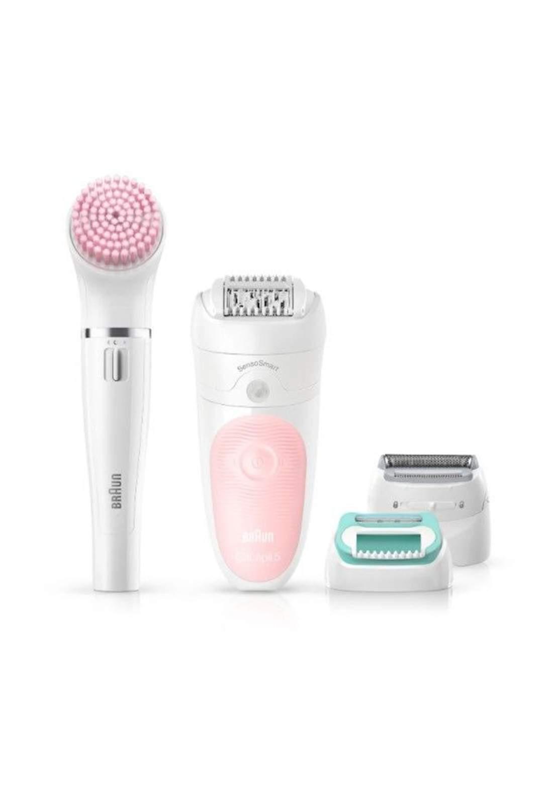 Braun SES5-875BS - Silk Epilator - Pink ماكنة ازالة الشعر للنساء