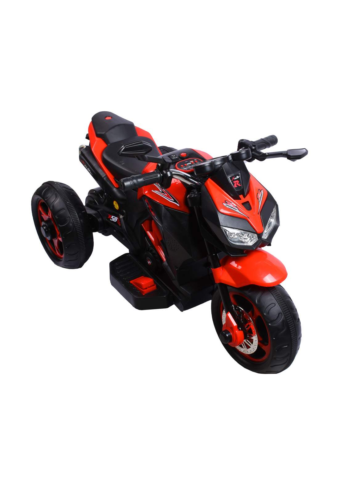 Electric bike for children with 3 wheels-Red دراجة للاطفال