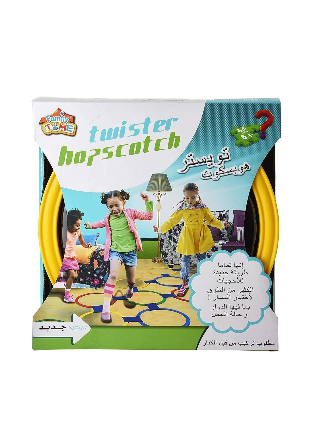 Family Time Twister Hopscotch Game لعبة التحدي تويستر