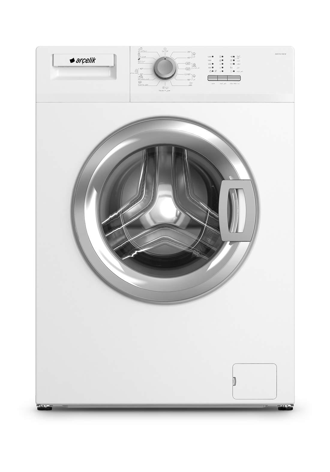 Arcelik AWX 8612 BCW Washing machine 8 kg gray غسالة 8 كيلو