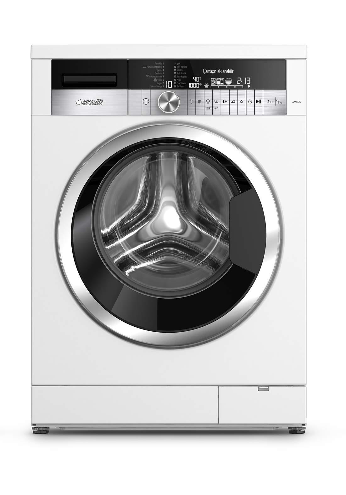Arcelik AWN 3944 Washing machine 9 kg white غسالة 9 كيلو