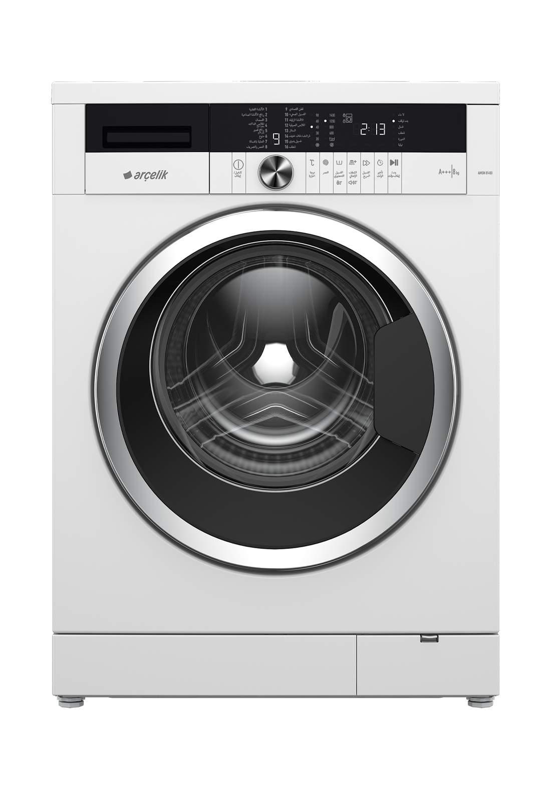 Arcelik AWN 41044 Washing machine 10 kg white غسالة 10 كيلو