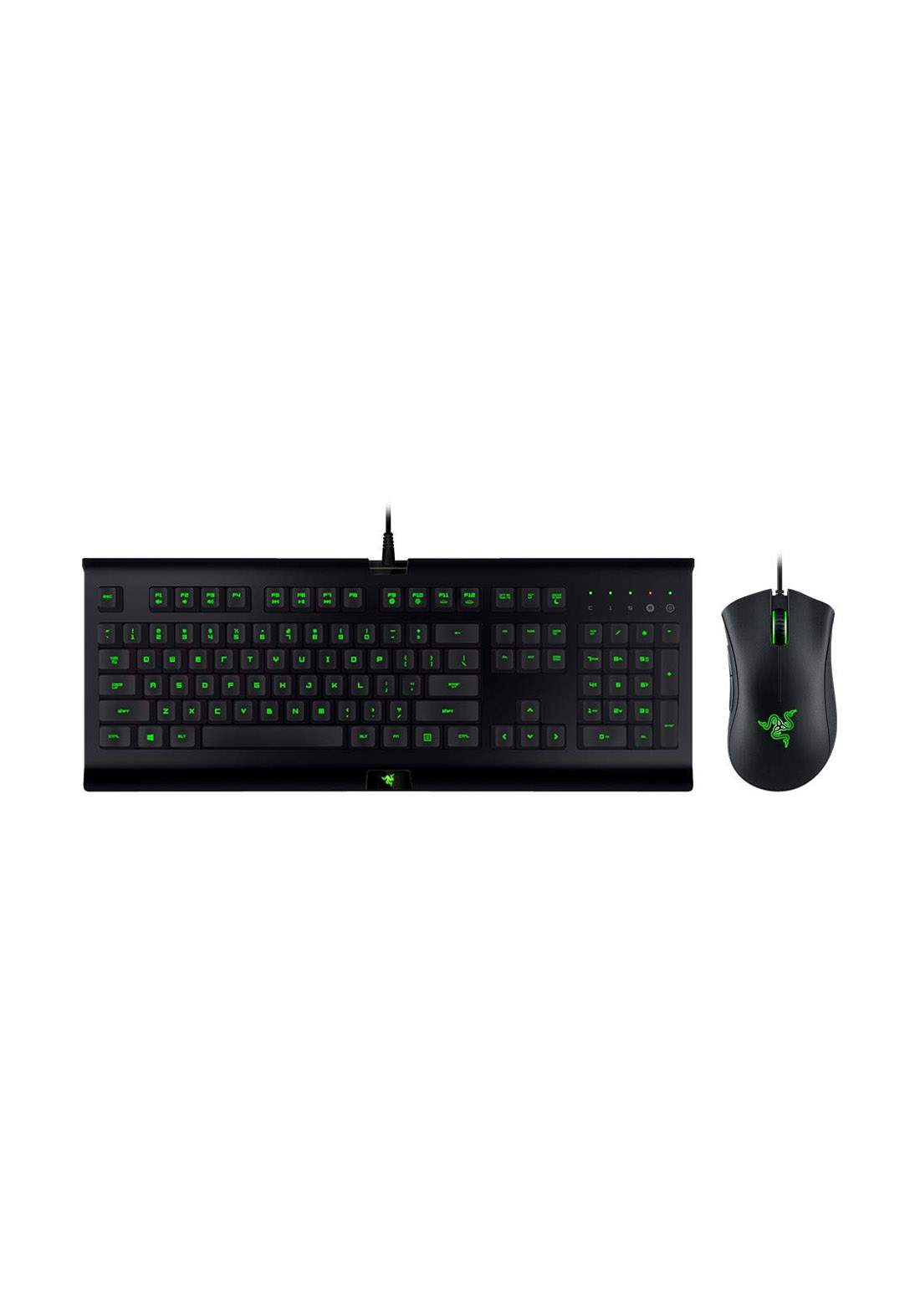 Razer Cynosa Pro Gaming Keyboard and  DeathAdder Optical Mouse - Black كيبورد وماوس