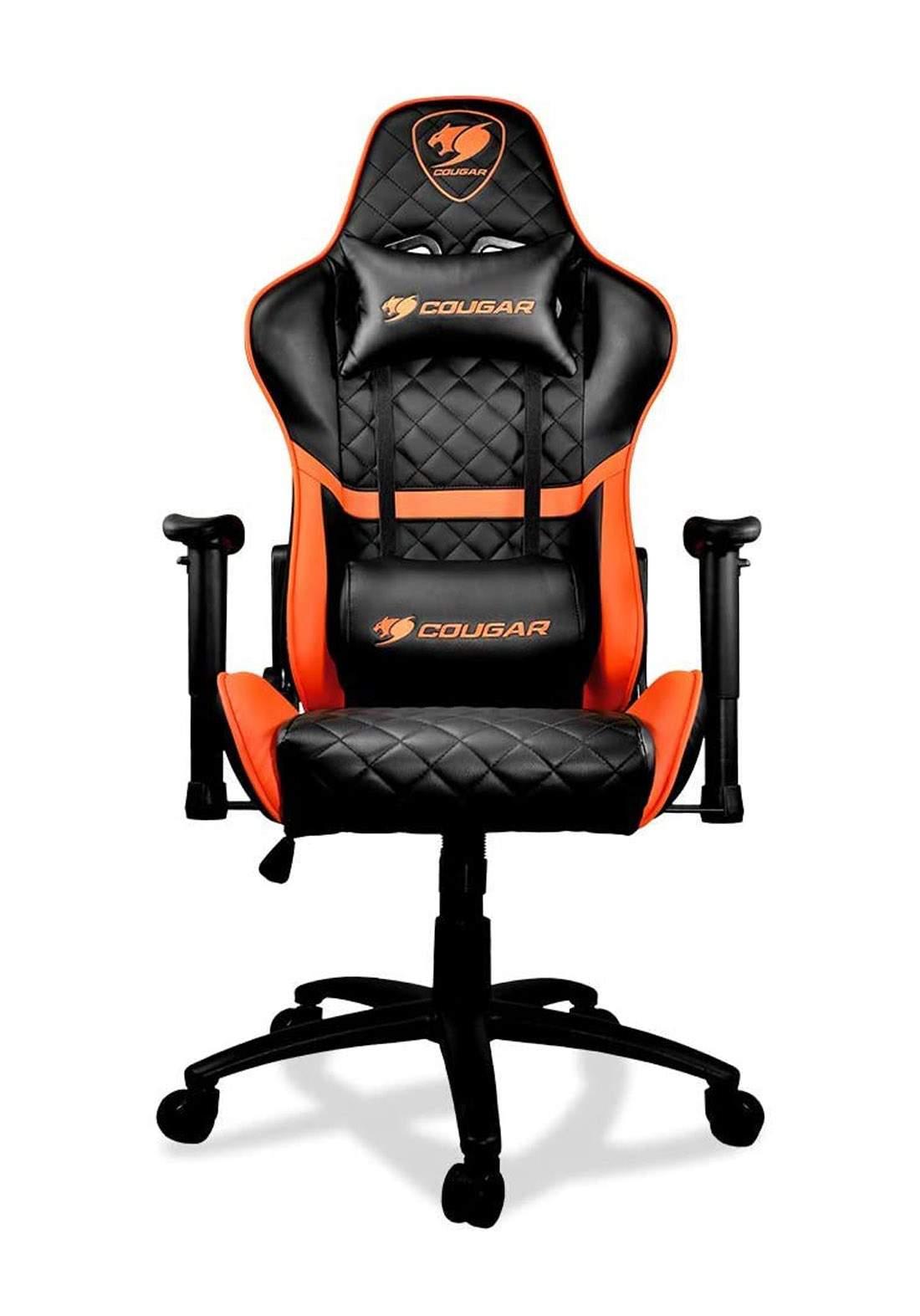 Cougar Armor One Gaming Chair - Black and Orange  كرسي العاب