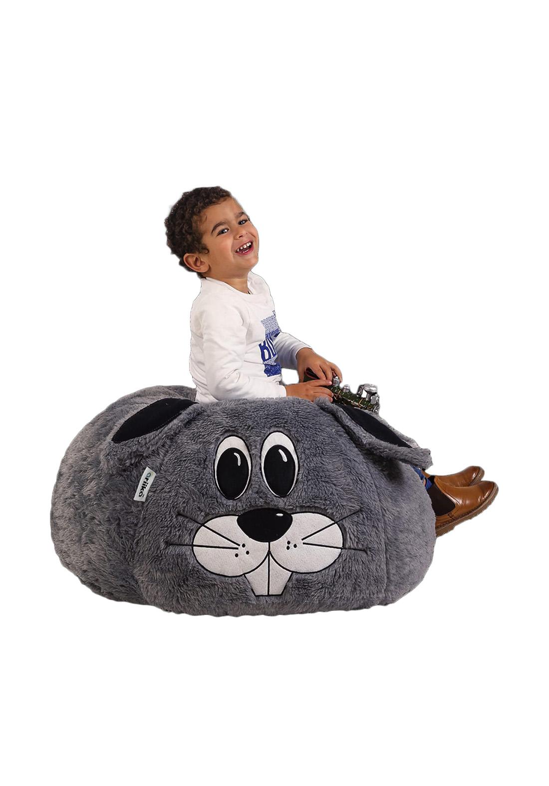 اريكة للاطفال بالفرو بشكل ارنب من ماركة اريكة