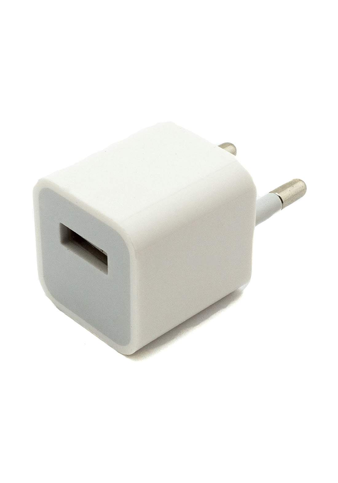 Apple iPhone charger 2 pin Adapter - White  شاحنة