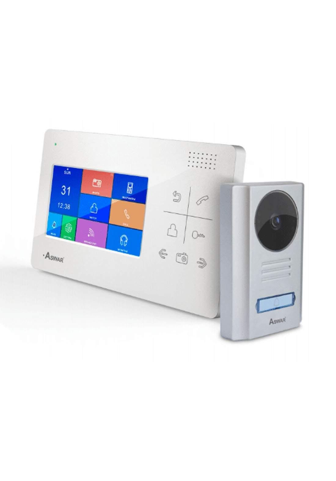 Aswar AS-VDP-40400B Digital LCD Indoor Monitor - Gray شاشة مراقبة للابواب
