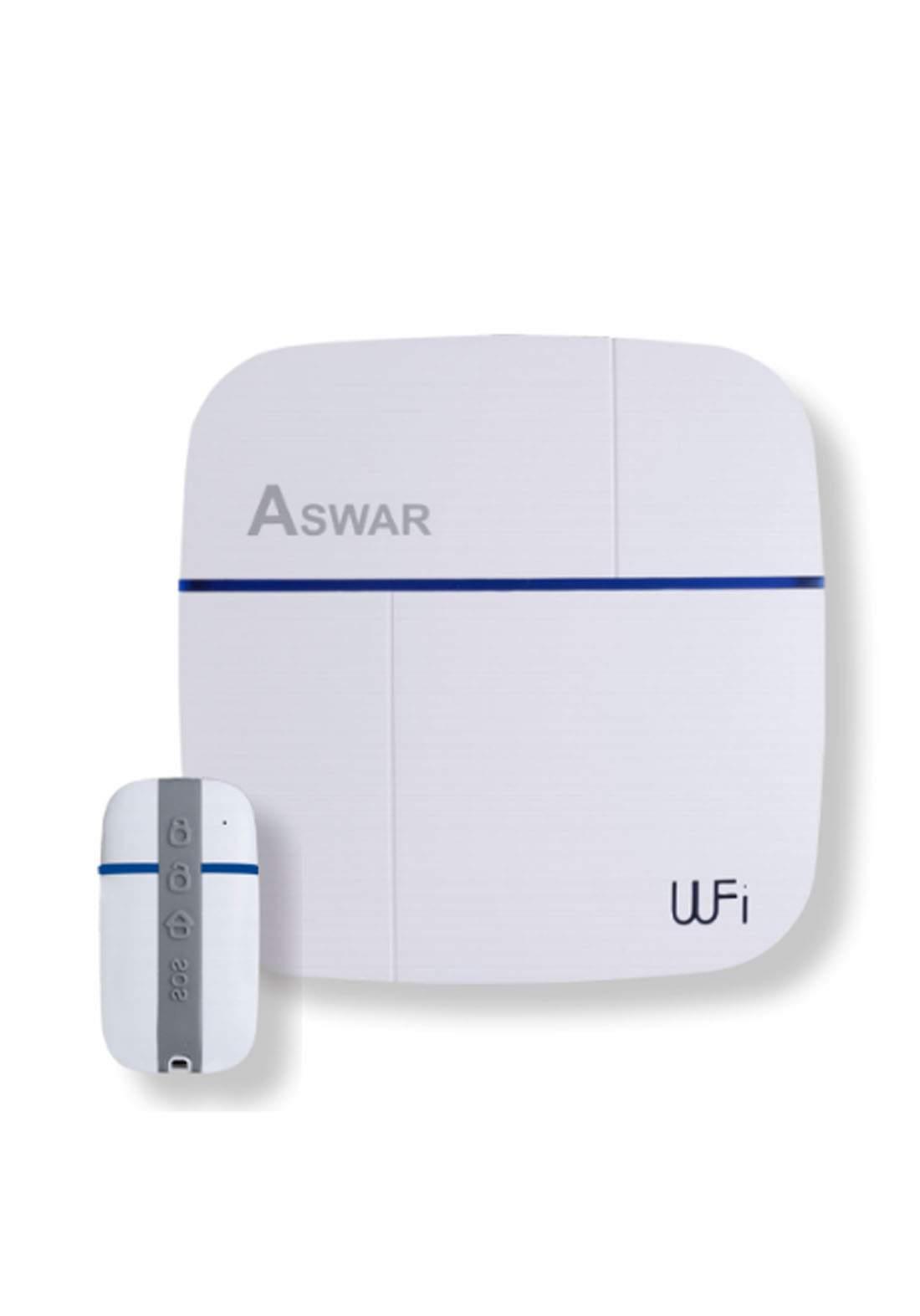 Aswar AS-HSS2-PANEL WiFi & GSM Smart Alarm Panel - White جهاز تنبيه داخلي للمنزل