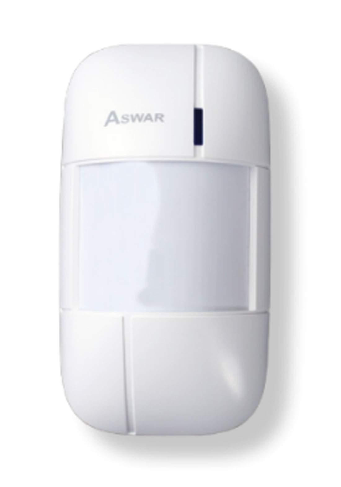Aswar AS-HSS2-PIR Motion Detector Sensor - White  مستشعر كاشف الحركة