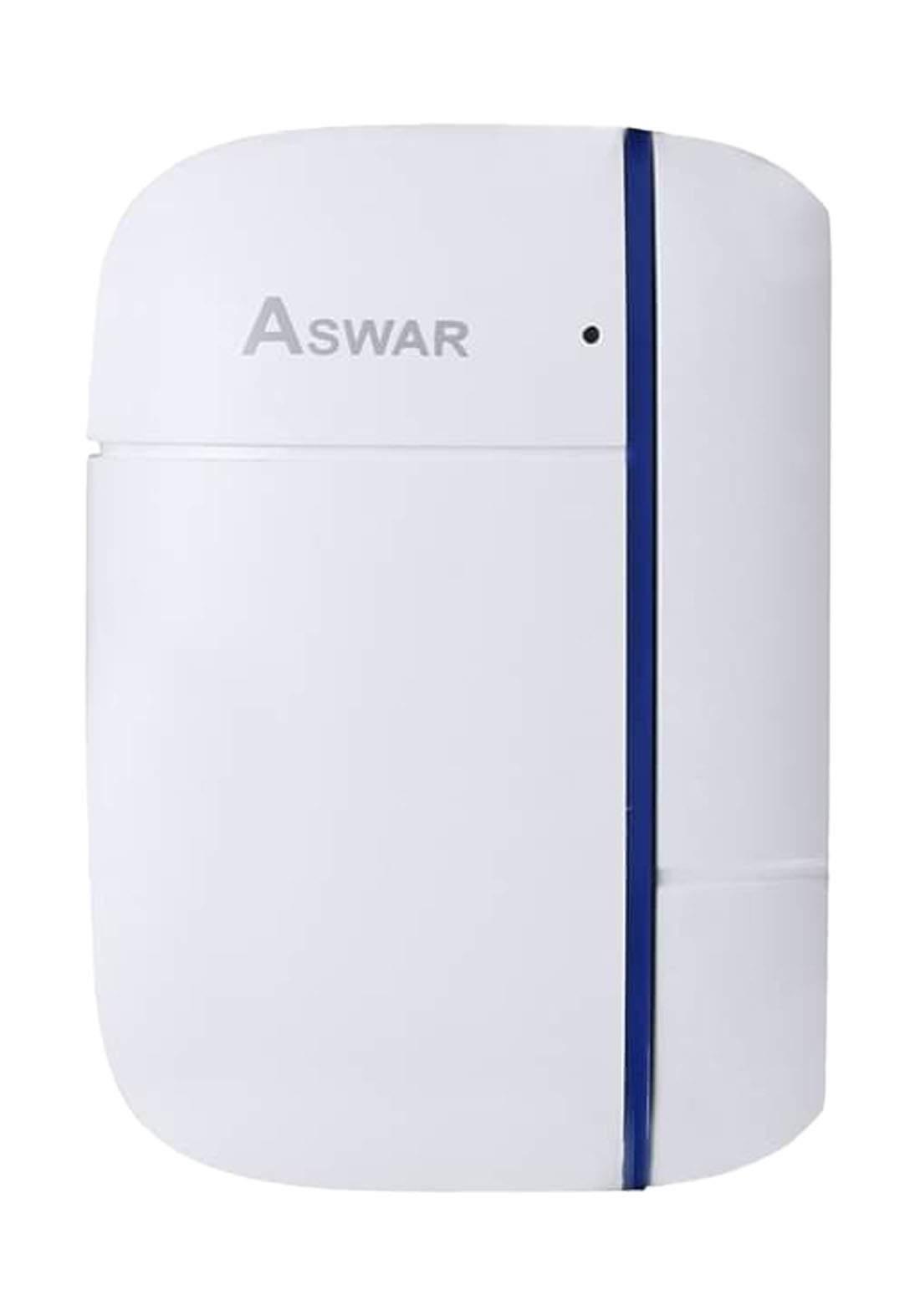 Aswar AS-HSS2-DS Door and Window Magnetic Sensor - White مستشعر مغناطيسي للابواب والنوافذ