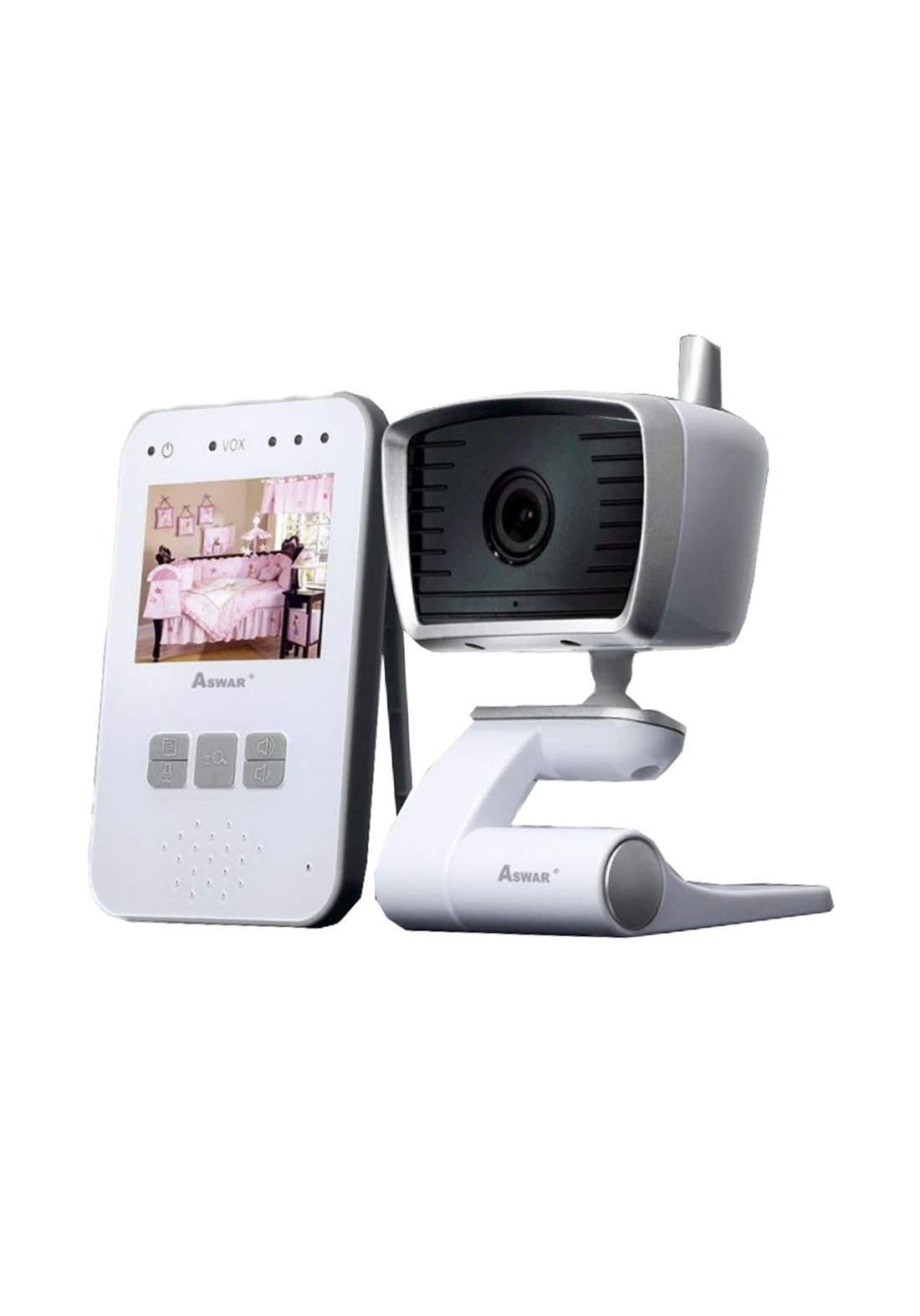 Aswar AS-HDQ-BKIT Video Baby Monitor - White كاميرا مراقبة للأطفال