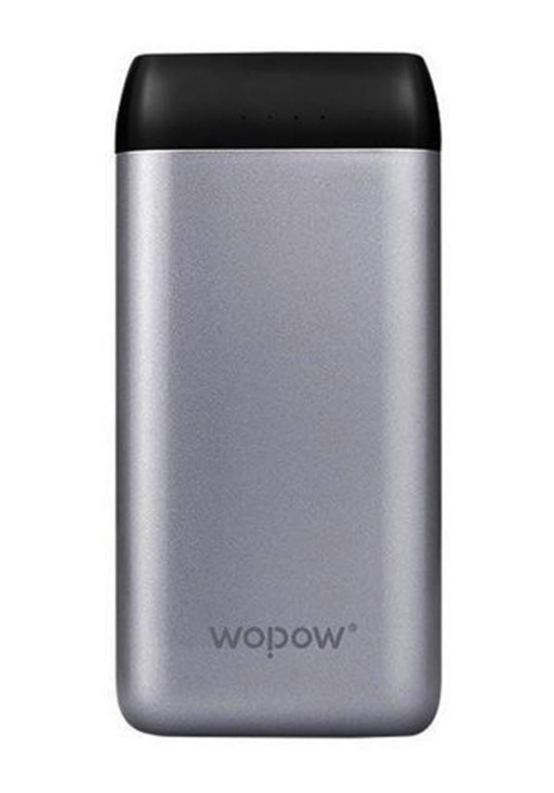 Wopow X15 Portable Power Bank - Gray شاحن محمول