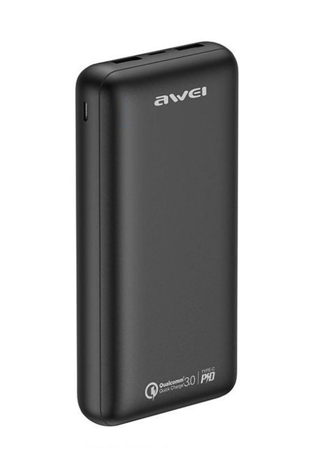 Awei P96K 20000mAh QC3.0 and PD3.0 Power Bank - Black شاحن محمول