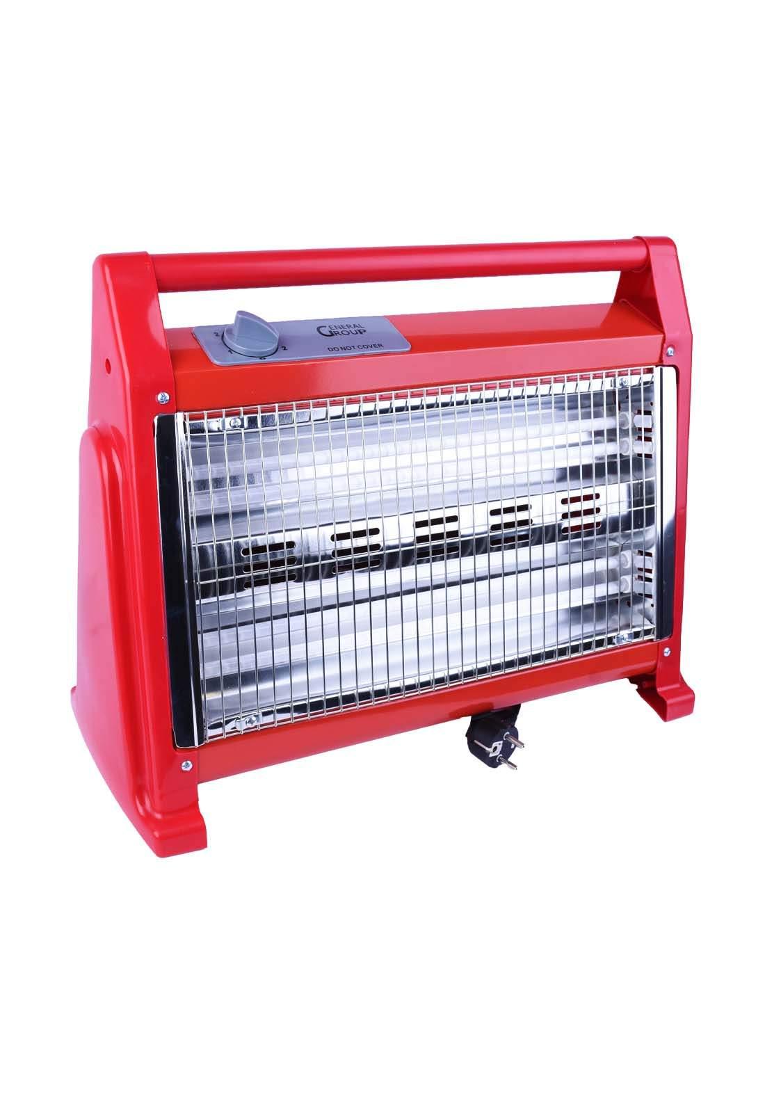 احمر اللون  General Group G-Q1205 مدفئة كهربائية من