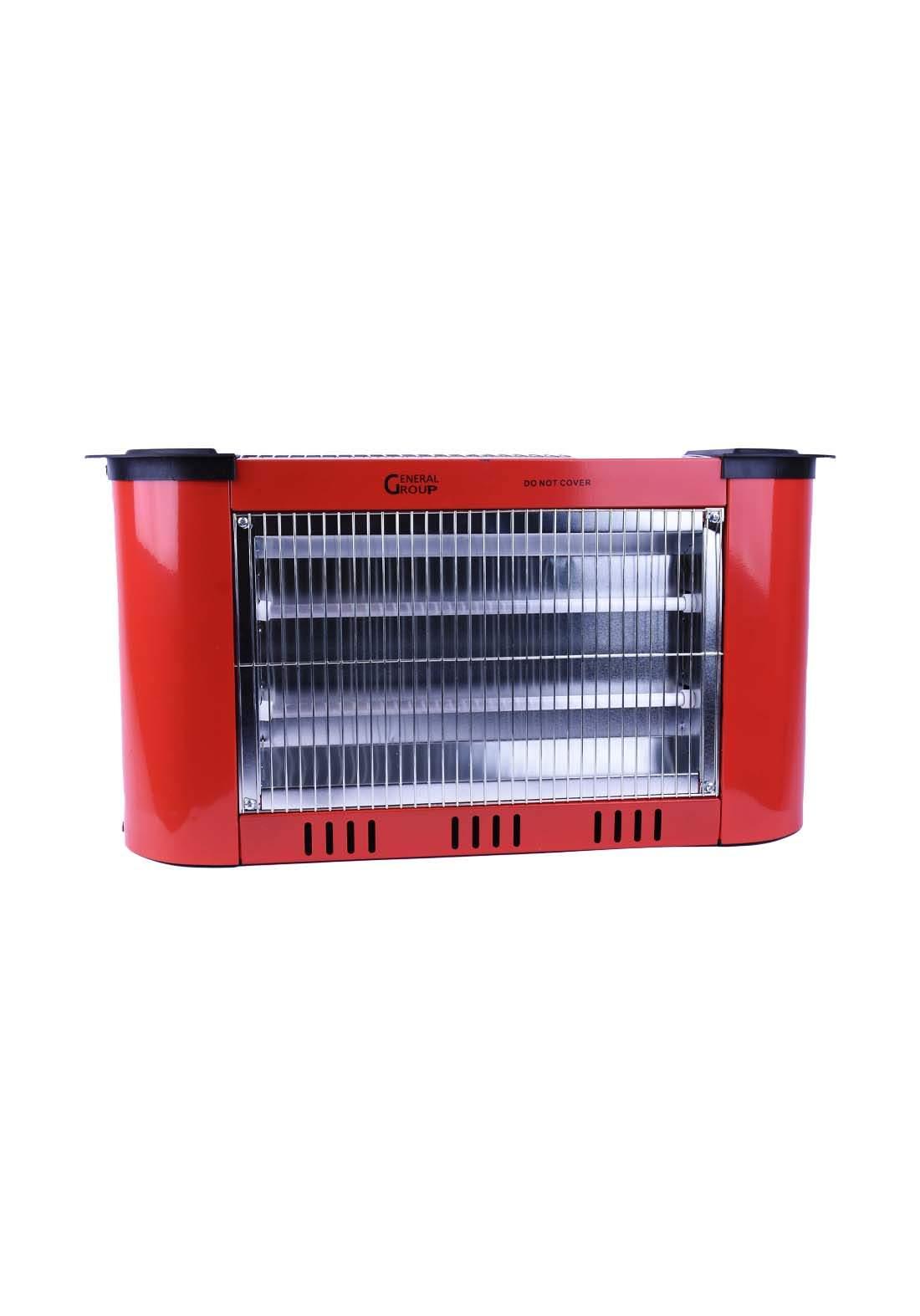 احمر اللون General Group G-Q1227s مدفئة كهربائية من