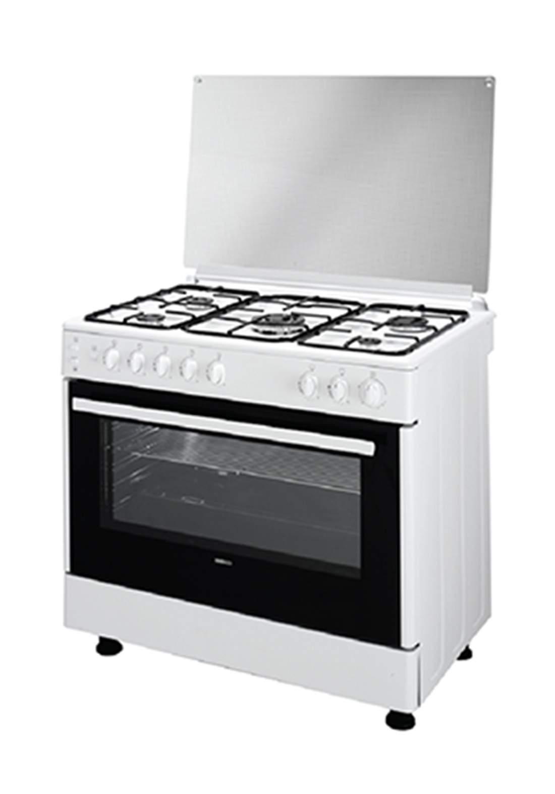 BEKO ( GG 15113GW) 5 Burner Gas Cooker - White طباخ