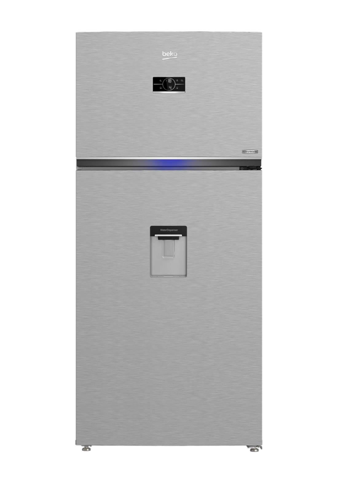 Beko RDNE 700E40DZXP Harvest Fresh Fridge 650 Liter With Manual Water Dispenser - Gray