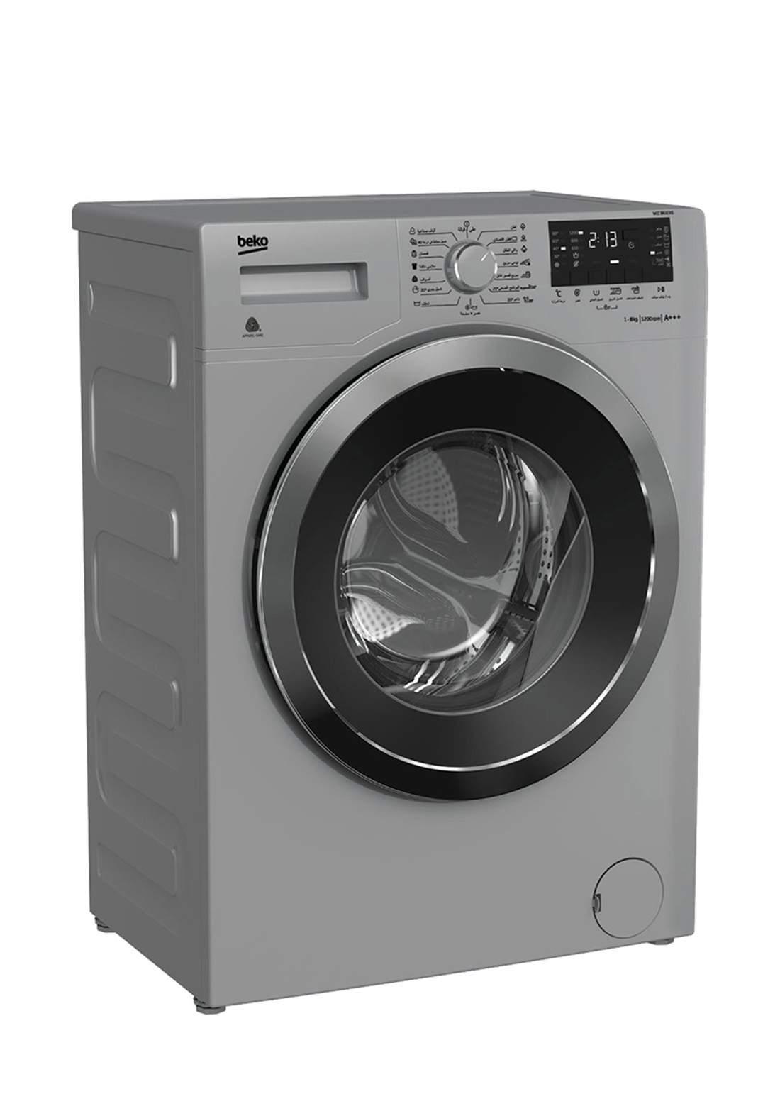 Beko  WCC 8632XS 1200RPM Front Loading Washing Machine 8Kg - Black