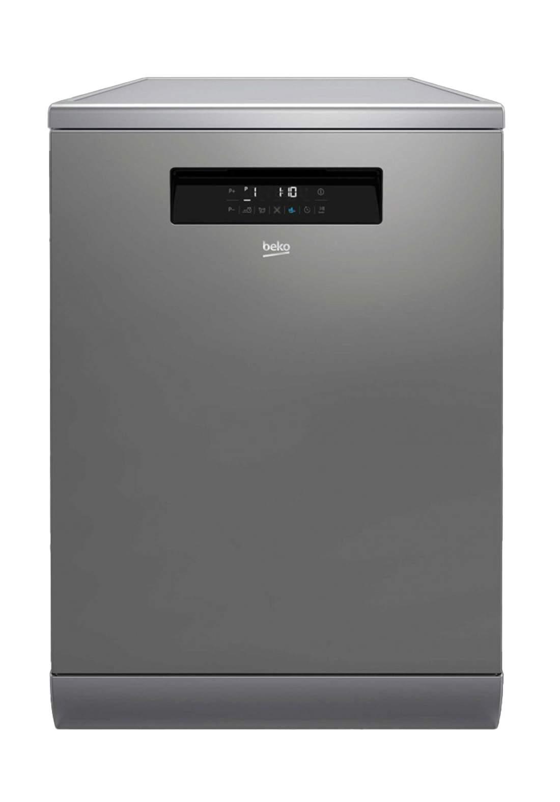 Beko DFN 39531 X Dishwasher 9 Programs Capacity Of 15 Sets - Gray  غسالة صحون